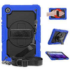 Funda Bumper Silicona y Plastico Mate Carcasa con Soporte para Samsung Galaxy Tab A7 Wi-Fi 10.4 SM-T500 Azul