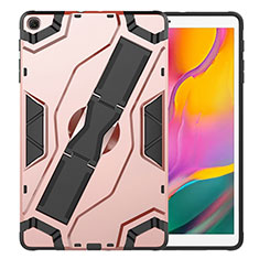 Funda Bumper Silicona y Plastico Mate Carcasa con Soporte para Samsung Galaxy Tab S5e Wi-Fi 10.5 SM-T720 Oro Rosa