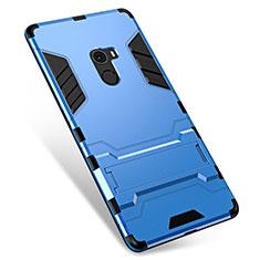 Funda Bumper Silicona y Plastico Mate Carcasa con Soporte para Xiaomi Mi Mix Azul