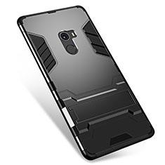 Funda Bumper Silicona y Plastico Mate Carcasa con Soporte para Xiaomi Mi Mix Negro