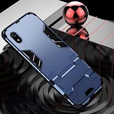 Funda Bumper Silicona y Plastico Mate Carcasa con Soporte para Xiaomi Redmi 7A Azul