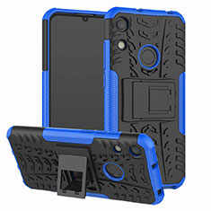 Funda Bumper Silicona y Plastico Mate Carcasa con Soporte Z01 para Huawei Honor 8A Azul