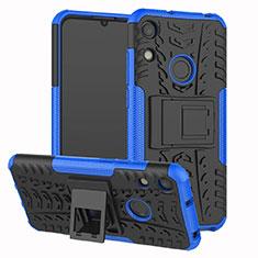Funda Bumper Silicona y Plastico Mate Carcasa con Soporte Z01 para Huawei Y6 Prime (2019) Azul