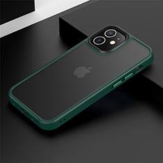 Funda Bumper Silicona y Plastico Mate Carcasa N01 para Apple iPhone 12 Verde