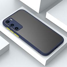 Funda Bumper Silicona y Plastico Mate Carcasa N02 para Huawei P40 Azul