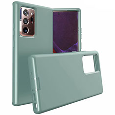 Funda Bumper Silicona y Plastico Mate Carcasa N02 para Samsung Galaxy Note 20 Ultra 5G Verde Noche