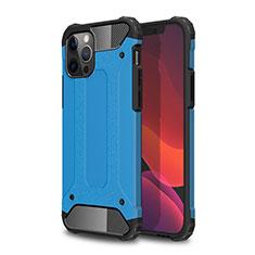 Funda Bumper Silicona y Plastico Mate Carcasa para Apple iPhone 12 Pro Azul Cielo