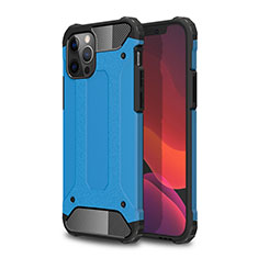 Funda Bumper Silicona y Plastico Mate Carcasa para Apple iPhone 12 Pro Max Azul Cielo