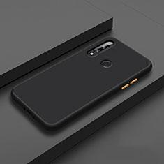 Funda Bumper Silicona y Plastico Mate Carcasa para Huawei Enjoy 10 Plus Negro