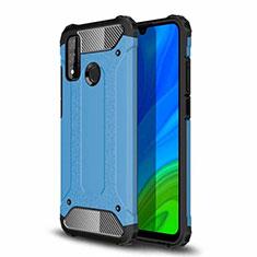 Funda Bumper Silicona y Plastico Mate Carcasa para Huawei P Smart (2020) Azul Cielo