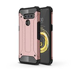 Funda Bumper Silicona y Plastico Mate Carcasa para LG V50 ThinQ 5G Oro Rosa