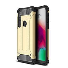Funda Bumper Silicona y Plastico Mate Carcasa para Motorola Moto G8 Play Oro