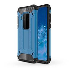 Funda Bumper Silicona y Plastico Mate Carcasa para Motorola Moto One Zoom Azul Cielo
