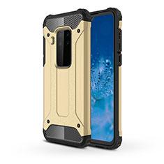 Funda Bumper Silicona y Plastico Mate Carcasa para Motorola Moto One Zoom Oro