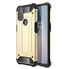 Funda Bumper Silicona y Plastico Mate Carcasa para OnePlus Nord N10 5G Oro