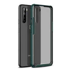 Funda Bumper Silicona y Plastico Mate Carcasa para OnePlus Nord Verde Noche