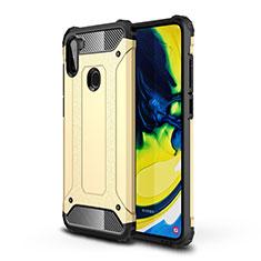 Funda Bumper Silicona y Plastico Mate Carcasa para Samsung Galaxy A11 Oro