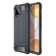 Funda Bumper Silicona y Plastico Mate Carcasa para Samsung Galaxy A42 5G Azul Real