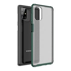 Funda Bumper Silicona y Plastico Mate Carcasa para Samsung Galaxy M51 Verde