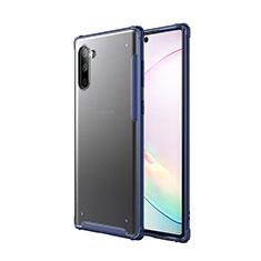 Funda Bumper Silicona y Plastico Mate Carcasa para Samsung Galaxy Note 10 5G Azul