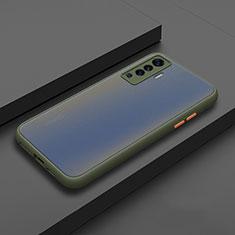 Funda Bumper Silicona y Plastico Mate Carcasa para Vivo X50 5G Cian