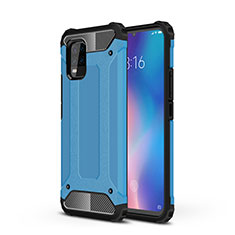 Funda Bumper Silicona y Plastico Mate Carcasa para Xiaomi Mi 10 Lite Azul Cielo