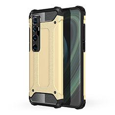 Funda Bumper Silicona y Plastico Mate Carcasa para Xiaomi Mi 10 Ultra Oro