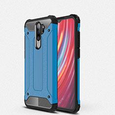 Funda Bumper Silicona y Plastico Mate Carcasa para Xiaomi Redmi Note 8 Pro Azul