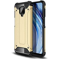 Funda Bumper Silicona y Plastico Mate Carcasa para Xiaomi Redmi Note 9 Pro Oro
