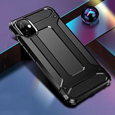 Funda Bumper Silicona y Plastico Mate Carcasa R01 para Apple iPhone 11 Negro