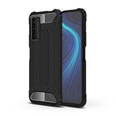 Funda Bumper Silicona y Plastico Mate Carcasa R01 para Huawei Honor X10 5G Negro