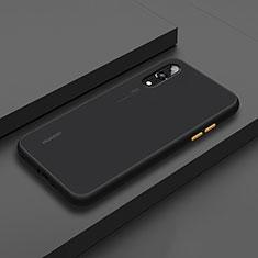 Funda Bumper Silicona y Plastico Mate Carcasa R01 para Huawei P20 Negro