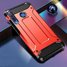 Funda Bumper Silicona y Plastico Mate Carcasa R01 para Huawei P30 Lite Rojo