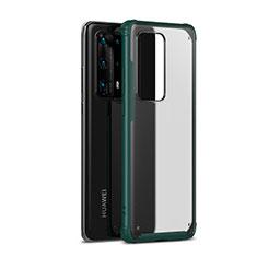 Funda Bumper Silicona y Plastico Mate Carcasa R01 para Huawei P40 Pro+ Plus Verde