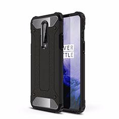 Funda Bumper Silicona y Plastico Mate Carcasa R01 para OnePlus 8 Negro