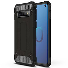 Funda Bumper Silicona y Plastico Mate Carcasa R01 para Samsung Galaxy S10 Negro