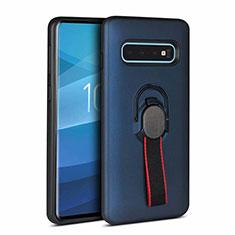 Funda Bumper Silicona y Plastico Mate Carcasa R01 para Samsung Galaxy S10 Plus Azul