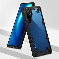Funda Bumper Silicona y Plastico Mate Carcasa R02 para Huawei P30 Pro Negro