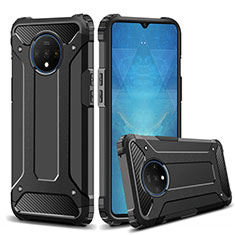 Funda Bumper Silicona y Plastico Mate Carcasa R02 para OnePlus 7T Negro