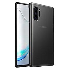 Funda Bumper Silicona y Plastico Mate Carcasa R03 para Samsung Galaxy Note 10 Plus 5G Negro