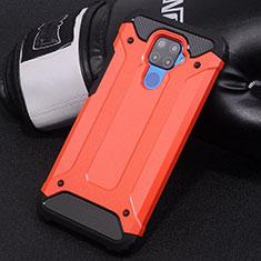 Funda Bumper Silicona y Plastico Mate Carcasa U01 para Huawei Mate 30 Lite Rojo