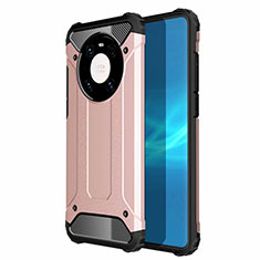 Funda Bumper Silicona y Plastico Mate Carcasa U01 para Huawei Mate 40 Pro Oro Rosa