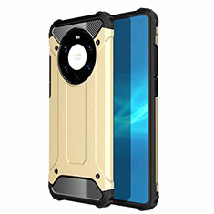 Funda Bumper Silicona y Plastico Mate Carcasa U01 para Huawei Mate 40 Pro+ Plus Oro