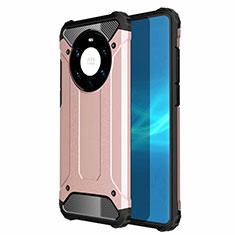 Funda Bumper Silicona y Plastico Mate Carcasa U01 para Huawei Mate 40 Pro+ Plus Oro Rosa
