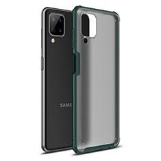 Funda Bumper Silicona y Plastico Mate Carcasa U01 para Samsung Galaxy A12 Verde