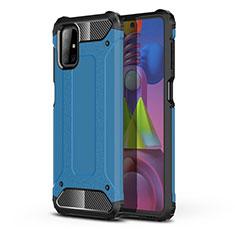 Funda Bumper Silicona y Plastico Mate Carcasa U01 para Samsung Galaxy M51 Azul Cielo