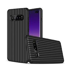 Funda Bumper Silicona y Plastico Mate Carcasa U01 para Samsung Galaxy S10 Plus Negro