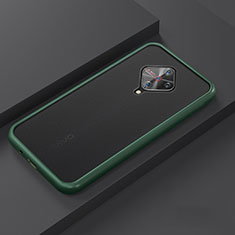 Funda Bumper Silicona y Plastico Mate Carcasa U01 para Vivo X50 Lite Cian
