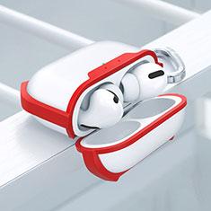 Funda Bumper Silicona y Plastico Mate Carcasa U02 para Apple AirPods Pro Rojo