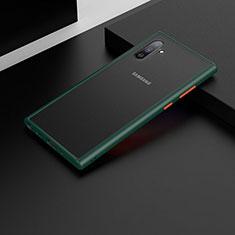 Funda Bumper Silicona y Plastico Mate Carcasa U04 para Samsung Galaxy Note 10 5G Verde